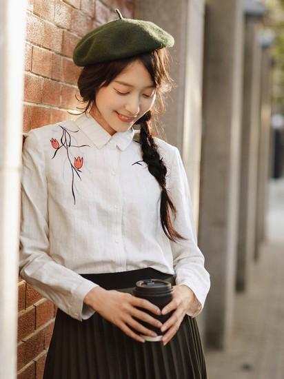 衫上绣花,让美丽升级