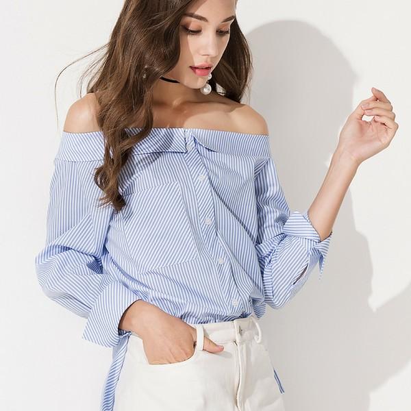 时髦条纹衫,让你高温天也能穿得凉爽又美丽