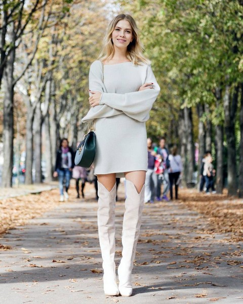 秋冬的懒人一片式之最当属针织裙