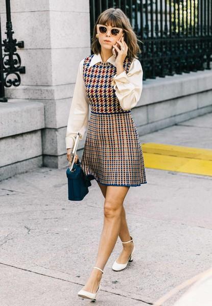 内搭单穿都有特色,拼接式连衣裙放大招