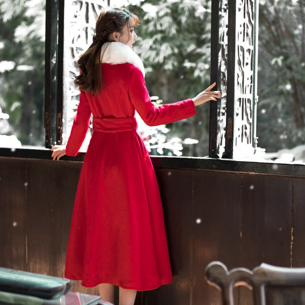 元宵战袍 非红大衣莫属