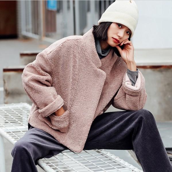 粉色+短外套=精致的女孩儿
