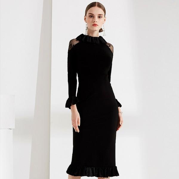 给蕾丝裙一个机会 它能妩媚整个冬天
