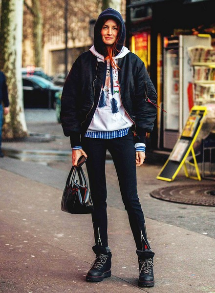 夹克造型轻松凹,春季混搭超时髦