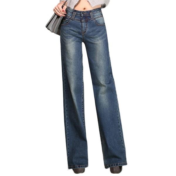 阔腿牛仔裤,显瘦无束缚