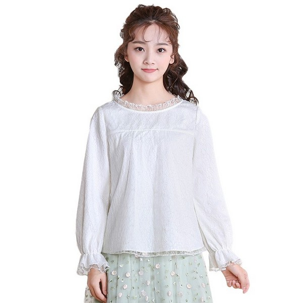 圆领雪纺衫缔造婀娜名媛范