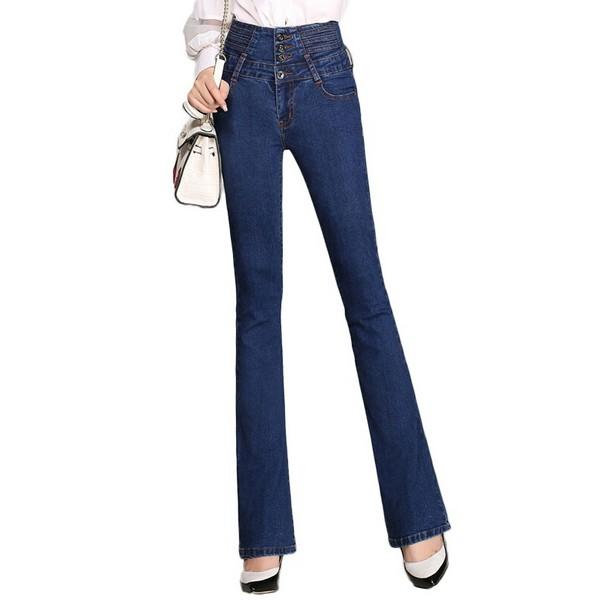 深色牛仔裤,高腰款假装腿长逆天