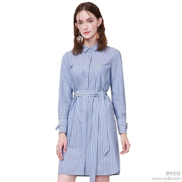 衬衫连衣裙温婉派,乖巧时髦释义淑女品格