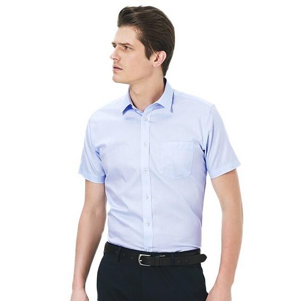 浅色短袖衬衫大话清凉感