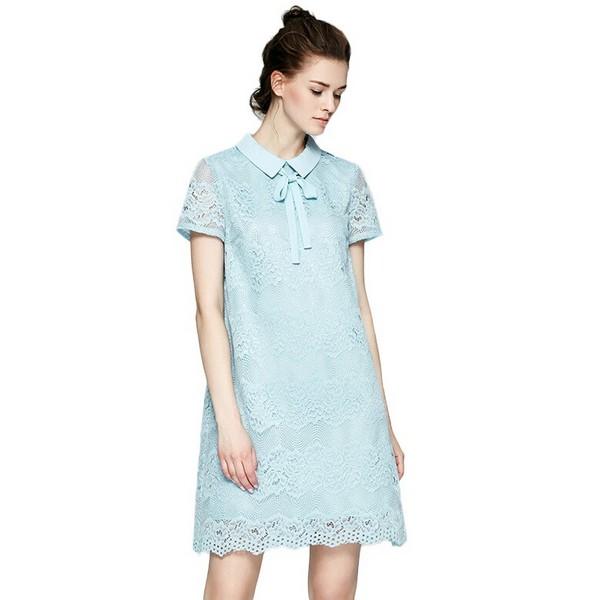软妹风,浅蓝色连衣裙柔化女汉心