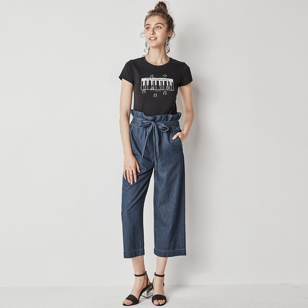 شلوار مد در سال 2019 شلوار فاق بلند پارچه ای زنانه مد شلوار سال 98 شلوار گشاد پارچه ای زنانه